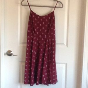 Old Navy sundress cranberry and white size medium